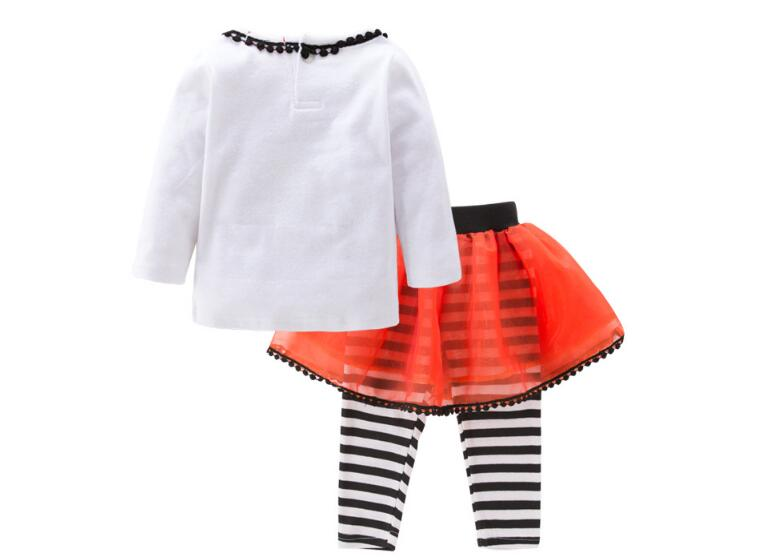 2Piece/Christmas Outfits Toddler Girl Clothes Cute Bow Cotton Long Sleeve T-shirt+Stripe Pants Baby Boutique Clothing Set BC1030