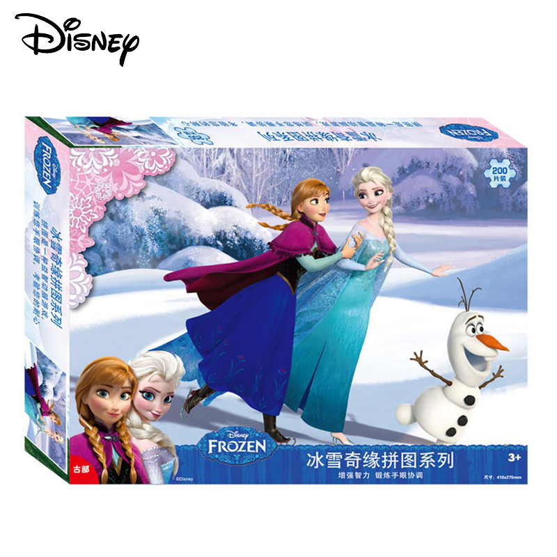 Disney Frozen Princess Kids Puzzle Wood Jigsaw 200pcs Early Educational Cartoon Toys For Children 3d Puzzle Paper Jigsaw Toy