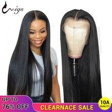 Peluca con cierre de encaje 4x4, peluca recta peruana, densidad del 180, pelucas de cabello humano sin pegamento con encaje frontal para mujeres negras, pelucas de cabello Remy UWIGS