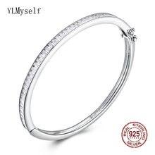 5*56 см диаметр реальные 925 серебряный браслет ювелирные изделия