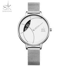 SK watch women watches luxury famous brand fashion style quartz ladies wristwatch montre femme 2019 reloj mujer relogio feminino