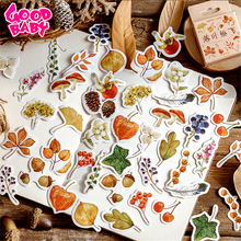 46Pcs/lot Leaf Paper Sticker For Children Decoration Scrapbooking Diary Albums Kids Toys Creative Hand Account Sealing Stickers