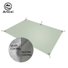 Aricxi Ultralight Tarp Lightweight MINI Sun Shelter Camping Mat Tent Footprint 15D Nylon Silicone silver coated enda Para Carro(China)