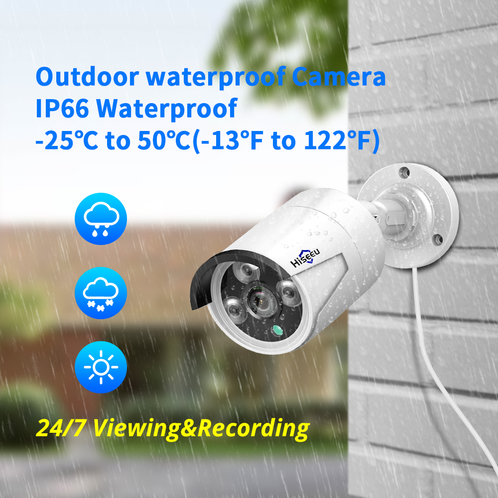lowest price Hiseeu 8CH POE NVR Kit HD 1080P CCTV Camera System 2MP Outdoor Waterproof  IP Camera POE  Home Security Video Surveillance Set