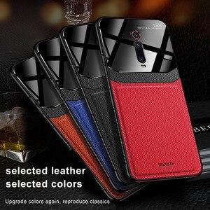 Szkło lustrzane obudowa do xiaomi czerwony mi K20 Pro 8A uwaga 8T 7 mi 9T 9 SE mi 8 A3 Lite CC9 Note10 mi 9T luksusowa skóra miękka osłona zderzaka