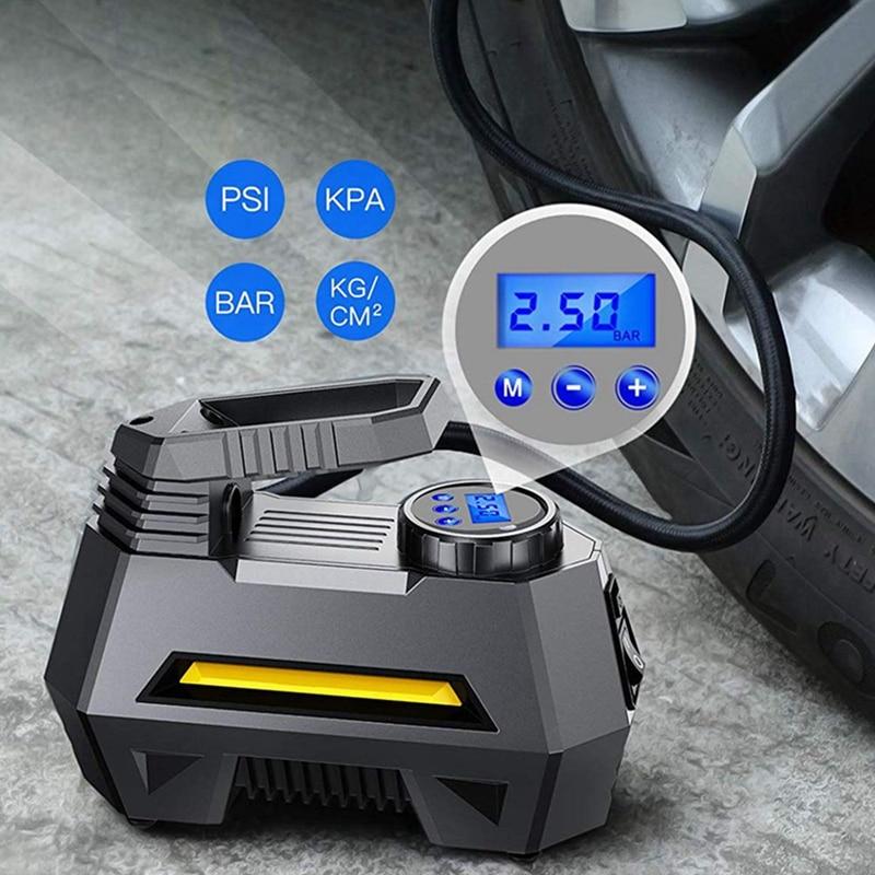 Car Air Pump Portable For Car Truck Tire Monitoring Pressure Lcd Digital Display 12V Car Truck Bicycle Tool Tyre Compressor