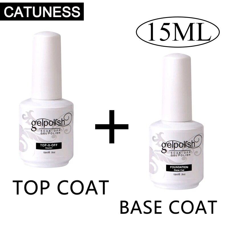 Top Base Coat Gel Polish Set Soak-off Polygel Base Top Coat Matte Top Coat Gel Nail Varnish Long Lasting UV Nail Art Lacquer