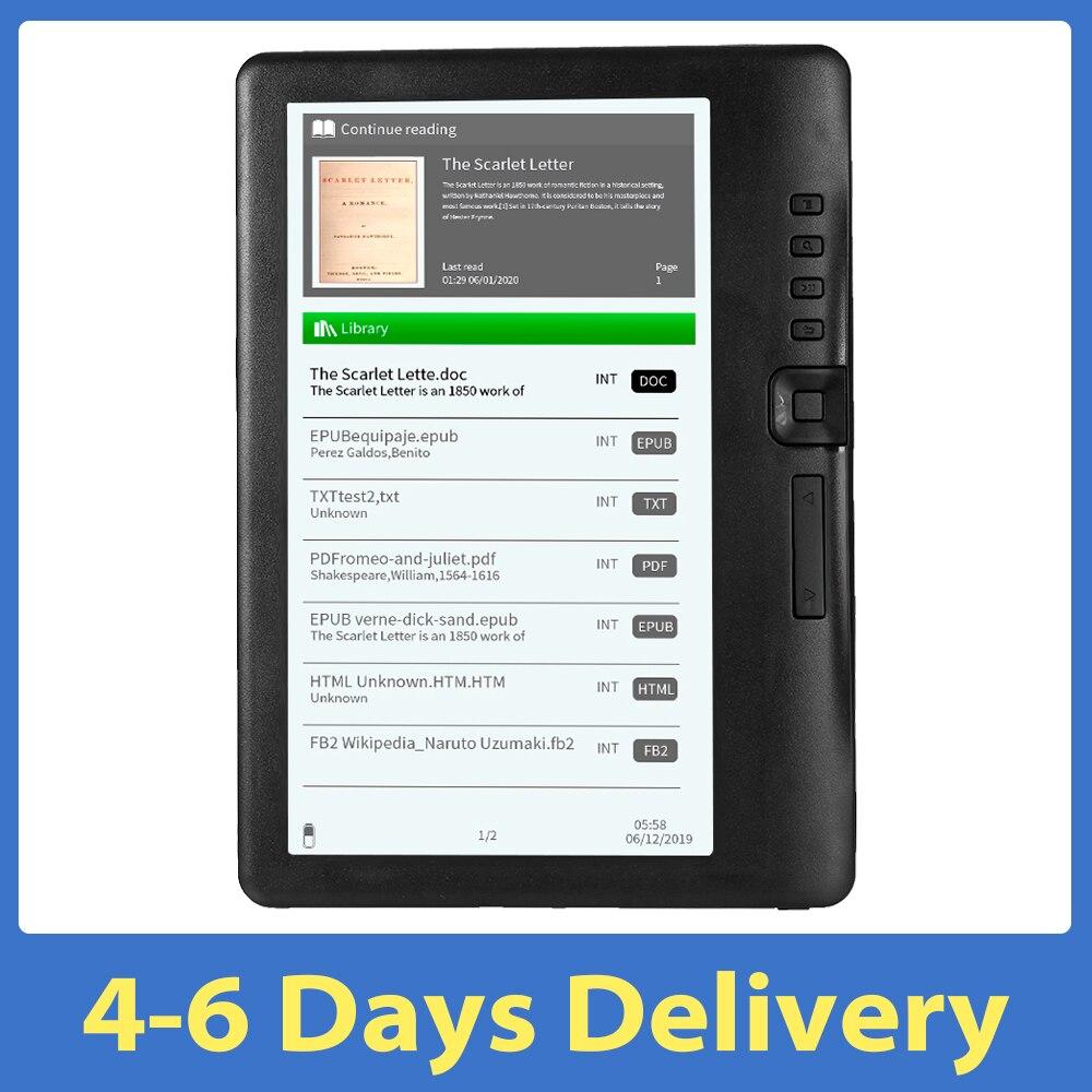 Leitor de e-book bk7019 portátil colorido display lcd tela 8gb/16gb 7 polegada multifunções e-reader backlight para crianças estudo daliy