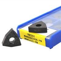 10 Uds WNMG080404-PM YBC251 WNMG080408-M YBC252 acero dorado WNG432 PM YBC252 espuma herramientas insertos de carburo de herramienta de torneado exterior