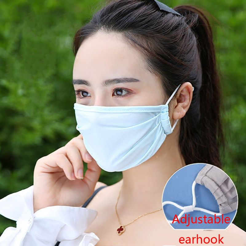 Summer Fresh And Anti Smell Dustproof Anti Virus Anti-fog Ice Silk Mouth Masks Breathable Washable Health Sunscreen Face