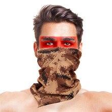 Высокопрыгающая велосипедная ветрозащитная УФ-защитная маска для лица, для альпинизма, пешего туризма, катания на лыжах, рыбалки, головной убор, камуфляжная бандана, шарфы