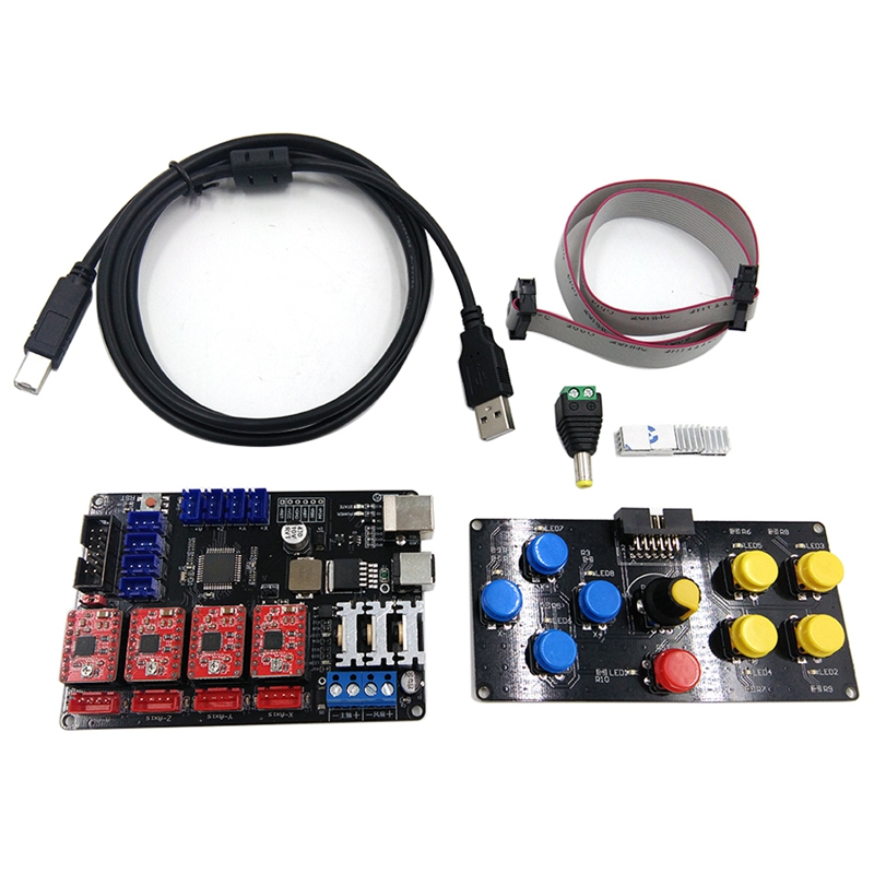Diy ЧПУ Usb управление Лер 4 оси гравер машина панель управления гравировальный станок аксессуар материнская плата