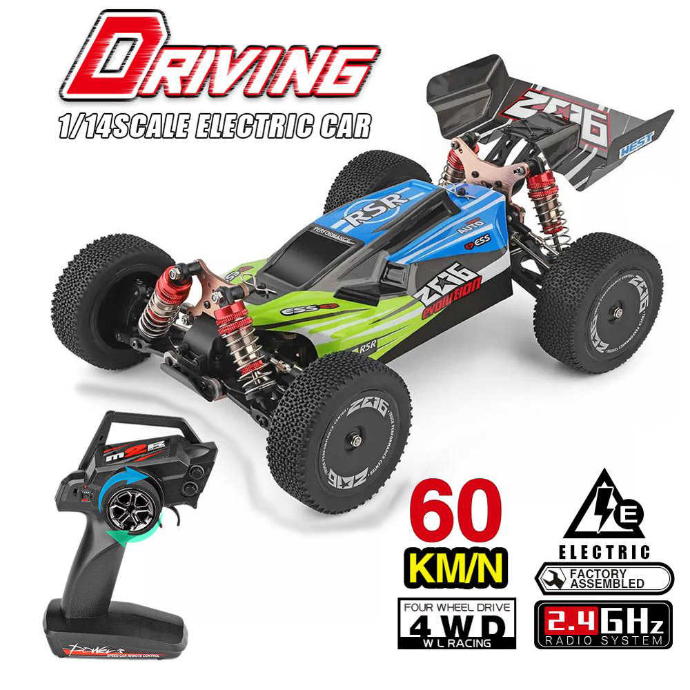 Wltoys 144001 1/14 2.4G Rc Buggy 4WD High Speed Racing Rc Auto Voertuig Modellen 60 Km/h Rc Racing Auto 550 Motor Rc Off-Road Auto Rtr