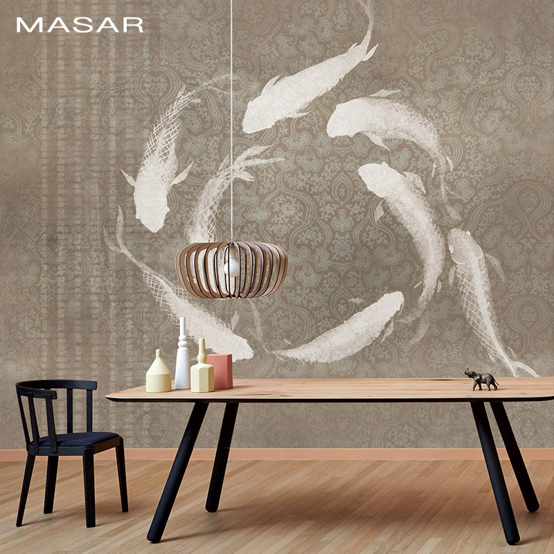 MASAR Original Minimalist Color Murals, Carp Corridor, Bedside Sofa, TV Restaurant, Background Wall Wallpaper, Waterproof  Trend