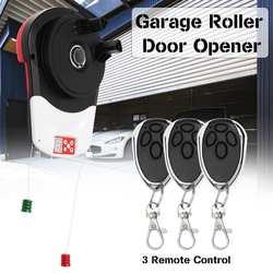 110V 600N Motor de abridor automático de puerta enrollable de garaje con 3 operarios eléctricos de Control remoto para operarios de puertas automáticas de puerta rodante