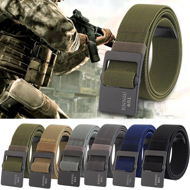 Military Belt Outdoor Men's Tactical Army Training Jeans Belt Male Metal Buckle Waist Belts Outdoor Men Hunting Waistband D35