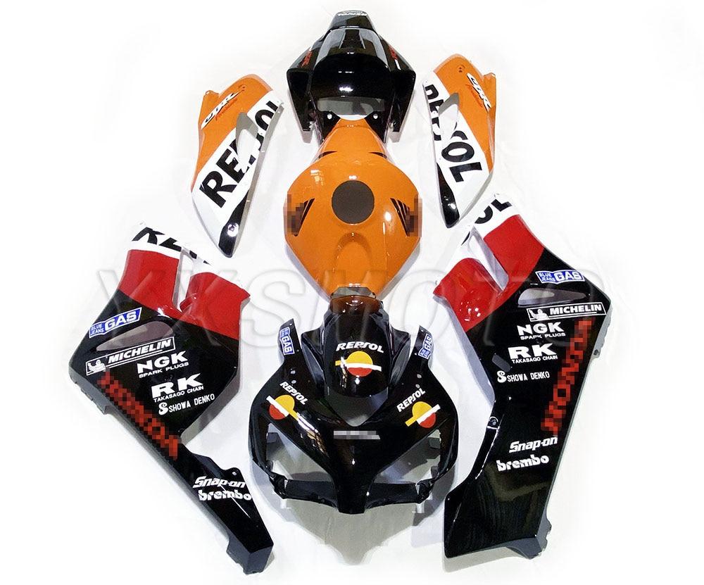 Brand New ABS Mechanical Injection Fairing Kit For Honda CBR1000 2004 2005 Black Red Bodywork Fairings Cbr 1000 Rr 04 05