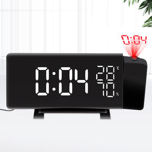 Digital Projection Alarm Clock Weather Station With Thermometer  Humidity Hygrometer  Bedside Clock Alarm Clock Projector