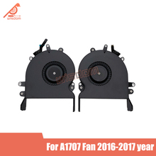 Genuine New A1707 CPU Cooler Cooling Fan for Macbook Pro Retina 15 A1707 Fan Left and Right Side Fan Set Late 2016 2017 year wolive for macbook pro retina 15 a1707 2016 2017 mptr2ll a mptt2ll a uk keyboard