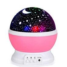 цена на Stars Starry Sky LED Night Light Rotating Projector Moon Lamp Battery USB power Children Bedroom Lamp Projection Light desk lamp