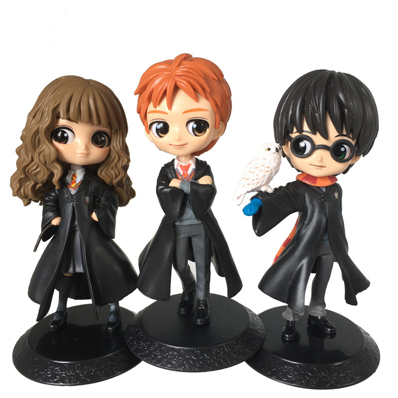NEW 14 16cm Q Posket Cute Big Eyes Harried Hermione Snape PVC Anime Dolls Collectible Potter Action Figure Q Version Model Toy Action & Toy Figures  - AliExpress