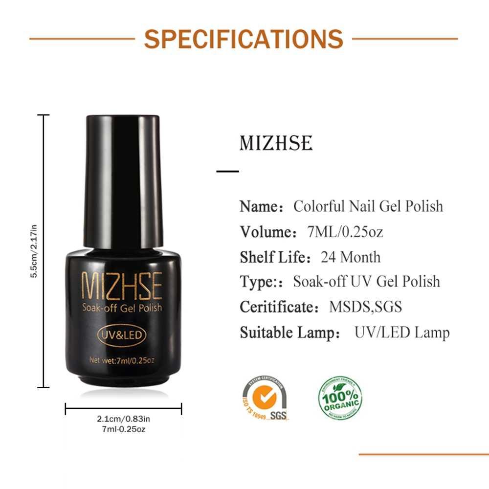 MIZHSE เล็บเจลเล็บชุดโปแลนด์ 7ML UV ยาวนาน Vernis กึ่งถาวรรองพื้นด้านบนสำหรับ 2019 ใหม่มาถึงสีเจล Lacquer