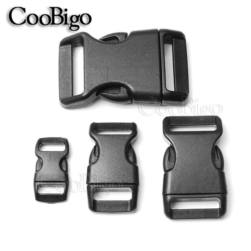 Plastic Paracord Clasps Sewing Set of 5 Contoured Side Release Survival Closure 36 mm Military Two-Piece Buckle Plastic Buckle Claps