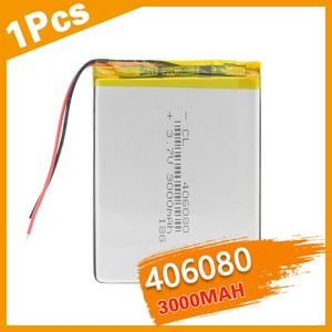 406080 3.7V 3000mAh Li-polymer Lithium Battery Replacement Rechargeable Cells For Tablet DVD GPS MID iPad Power Bank