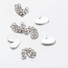 10pcs glitter heart Nail Charms Diamond For new 3D Art Supplies DIY nail crystal rhinestones jewels Decorations