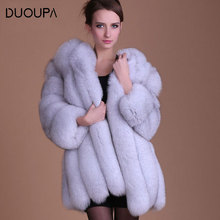2019 Autumn and Winter New Fox Fur Coat Female Long Section of Faux One Artificial Temperament Womens