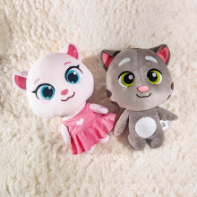 Electrical Talking Tom Angel Plush Toys Repeats What You Say Seek Stuffed Dolls Speaking Cartoon Cat And Friends Toys Kids Gifts