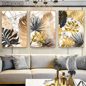 Canvas Painting Posters Pictures Botanical Wall-Art Abstract Modern-Decor Print Living-Room