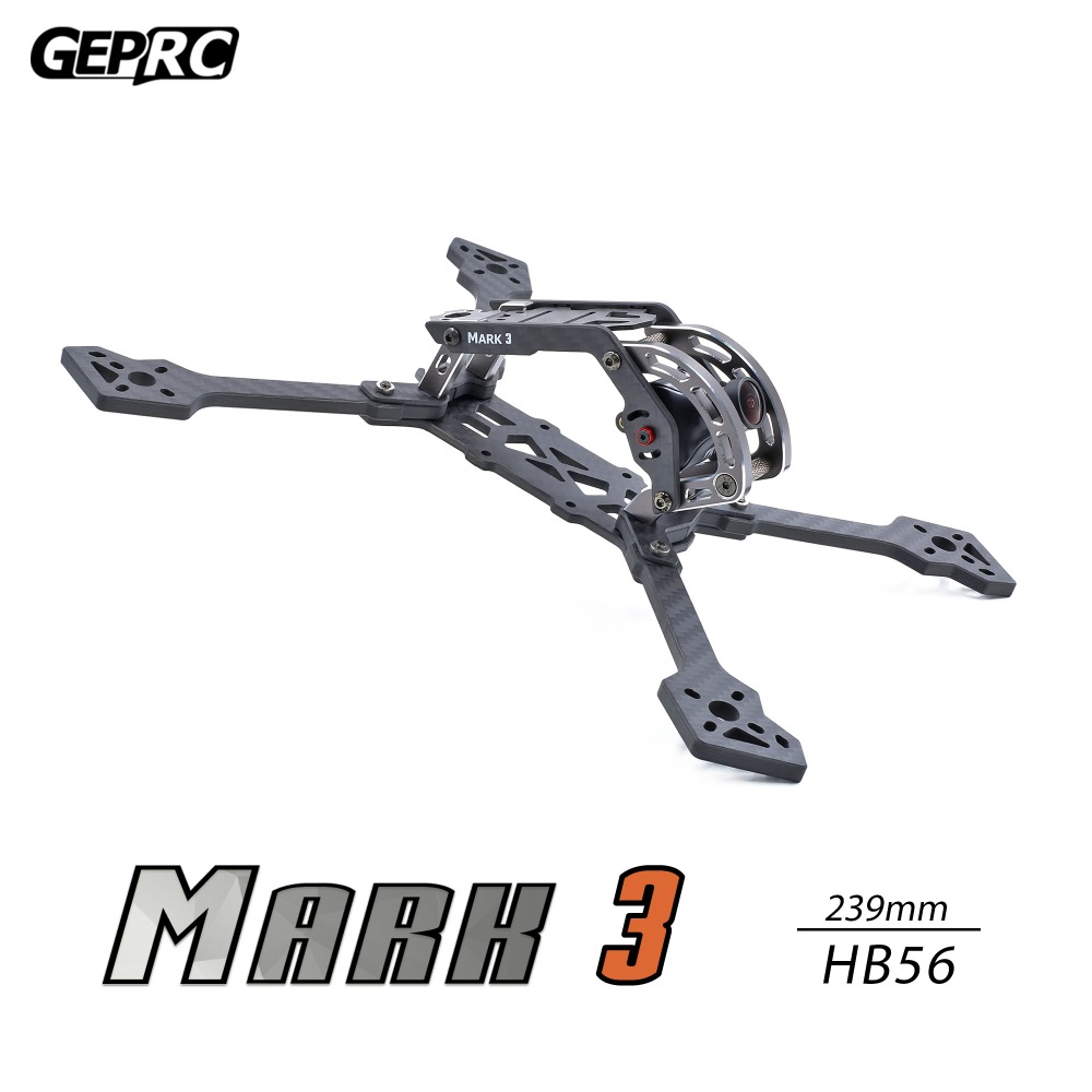 GEPRC GEP Mark 3 H5 T5 225mm/HB56 239mm X Quacopter Drone Frame Kit 4mm Arm Board 3K Full Carbon Fiber for FPV Racing Freestyle|Parts & Accessories| |  - title=