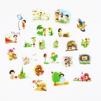 1packs/lot Creative Childhood Memories Childlike Decoration kawaii Stickers Bullet Stationery Album Scrapbook image