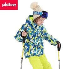 Детская Лыжная куртка и штаны, зимний теплый лыжный костюм, ветрозащитный водонепроницаемый детский комплект для сноуборда, уличные детские зимние комплекты для мальчиков и девочек