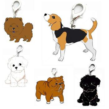 Bichon Chow Foxhound Shapei Pet Dog ID Name Tag Collar Key Chain Pendant Gift image