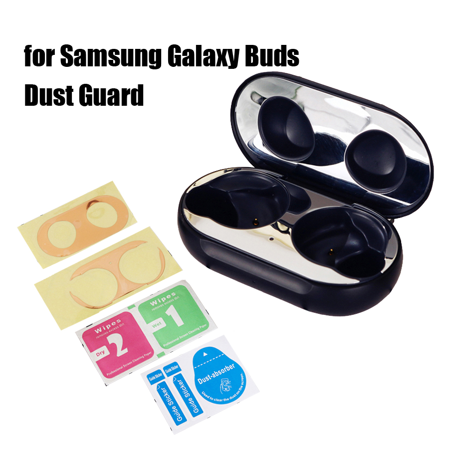 Dustproof Guard Sticker For Samsung Galaxy Buds Metal Ultra Thin Skin Protective Film Sticker For Samsung Galaxy Buds Cover