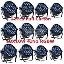 12шт светодиодный свет равенства Сид RGBW 18X10W 4 в 1 тонкий может стробоскоп лазер DMX DJ диско этап свет звук оборудования