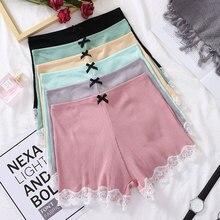 Women Safety Shorts Pants Mid Waist Panties Seamless Girls Tights Pants Summer Slimming Underwear Lace Boy Boxer Shorts