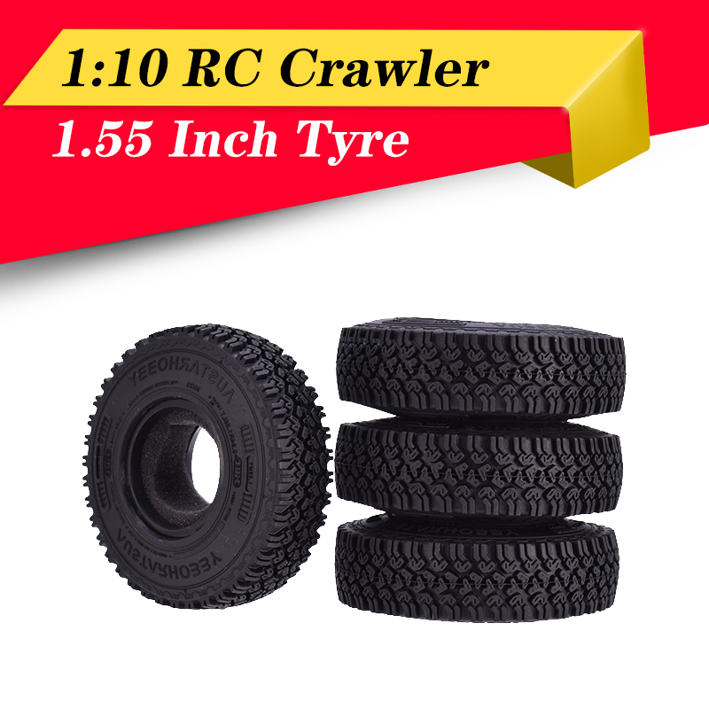 4PCS 1.9 inch Rubber Tyre 1.9 Wheel Tires 108X40MM for 1//10 RC Cler Traxxas U3I1