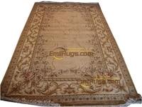 꽃 카펫 장미 손으로 만든 프랑스 직조 러그 울 디자인 바늘 민속 카펫 새 목록 러너 러그 아트 카펫 울|카펫|   -