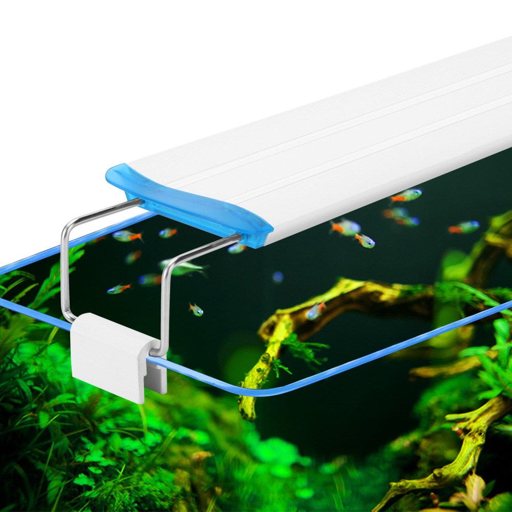 90-260v Aquarium Clip Light Super Thin Fish Tank Planted Aquarium Lamp 18-71cm LED Aquarium Lighting EU Power