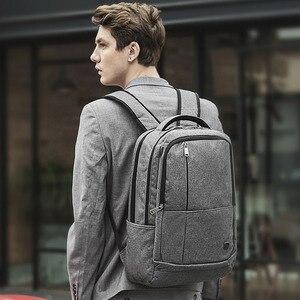 Image 2 - Oiwas 17 дюймовый рюкзак для ноутбука с USB зарядкой, мужские рюкзаки, большой объем, деловой рюкзак для женщин и мужчин, Подростковая дорожная сумка