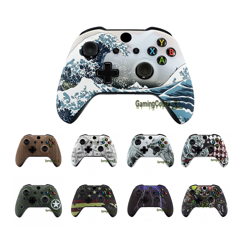 Custom Patterned Soft Touch Replace Parts Front Shell for Xbox One X  amp  One S Controller Model 1708