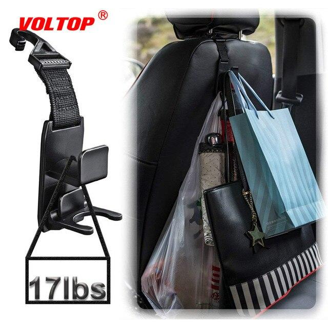 Araba kanca oto Fastener klip kafalık askı araba için tutucu koltuk organizatör arkasında üzerinde koltuk sihirli Snap panoları