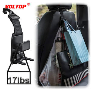 Image 1 - Car Hook Auto Fastener Clip Headrest Hanger Holder for Car Seat Organizer Behind Over The Seat Magic Snap Boards