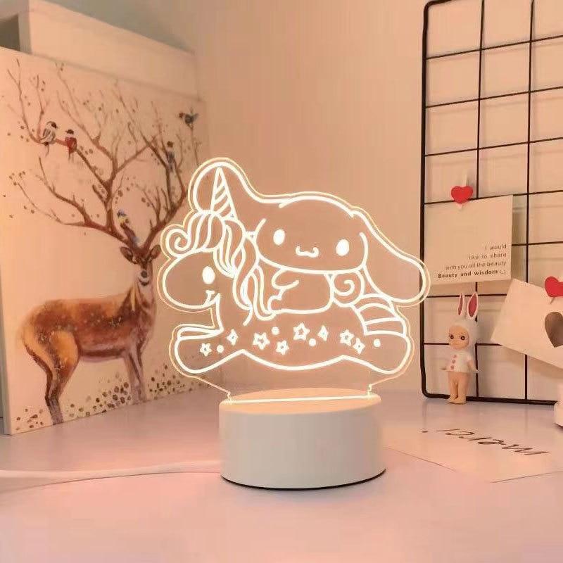 Kawaii Sanrio 3D Night Light/Lamp 3