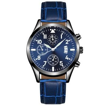 Zegarek HONHX dla mężczyzn zegarek luxry dla mężczyzn skórzany zegarek z kalendarzem dla mężczyzn funkcja Plus zegarek z funkcją świecenia zegarek na rękę tanie i dobre opinie CURDDEN bez wodoodporności CN (pochodzenie) Sprzączka simple Samoczynny naciąg 25cm STAINLESS STEEL luminous hands ROUND