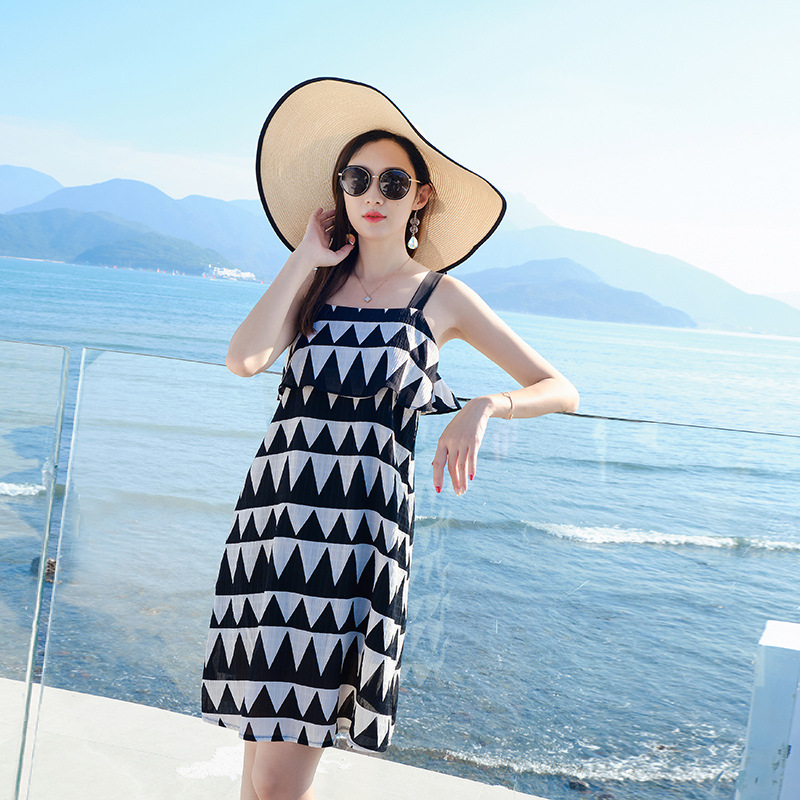 Photo Shoot 2019 New Style Women's Summer Camisole Thailand Sanya Seaside Holiday Beach Skirt Immortal Slimming Bali