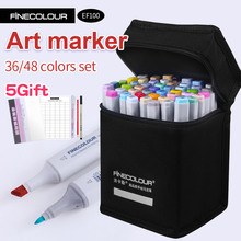 Finecolour Alcohol Art Marker Color Pen Artist Double Headed Sketch Marker 36 48 Set EF100 Markers for Drawing finecolour markers yellow and red color double ended art marker artist sketch drawing marker pen